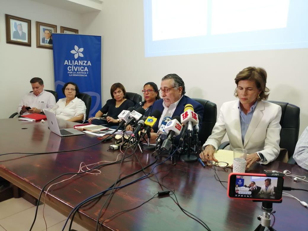 Alianza Cívica y Fundación Violeta Barrios de Chamorro anuncian protocolo sobre libertad de expresión. Foto: Álvaro Navarro