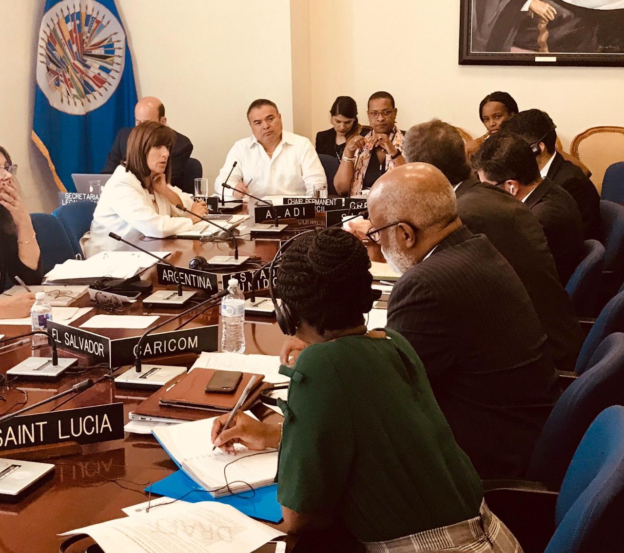 Países miembros de la OEA discuten nombramiento de la Comisión Especial para abordar crisis de Nicaragua