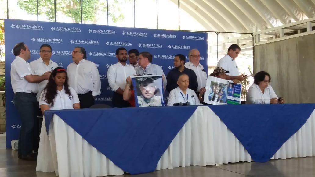 Miembros de la Alianza Cívica dispuesto a reanudar la mesa de negociación. Foto: María Gómez/Artículo 66
