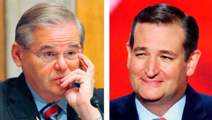 Senadores Ted Cruz y Bob Menendez. Foto: Tomada de internet