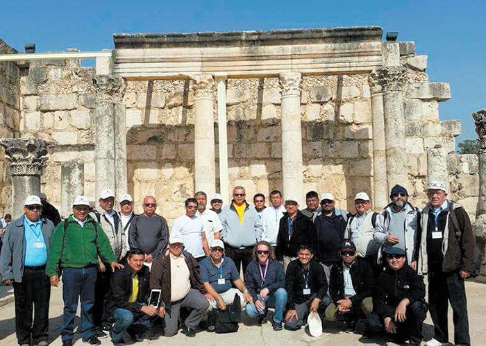 En el 2017 el obispo René Sándigo, en ese entonces máximo jerarca de la Diócesis de Chontales viajó a Israel con todos los sacerdotes de su zona pastoral. Foto: Cortesía