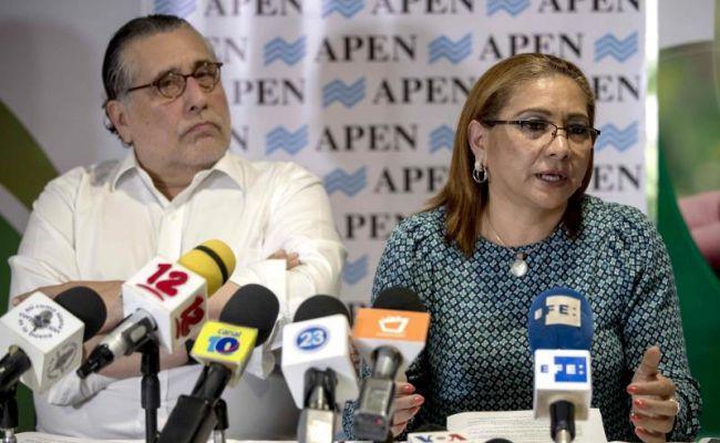 Aura Lila Sevilla, presidenta de la Alianza Nacional Cafetalera de Nicaragua (ANCN), durante la conferencia de prensa. Foto: Tomada de Internet