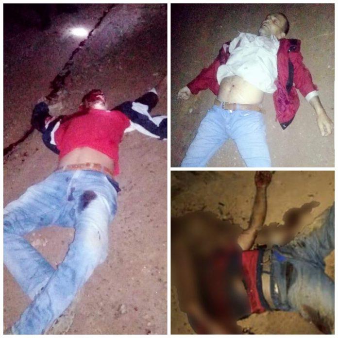 """17 campesinos asesinados cuya ejecuciones han sido """"acribillados a balazos"""" en la zona norte del país. Foto: Tomada de Internet"""