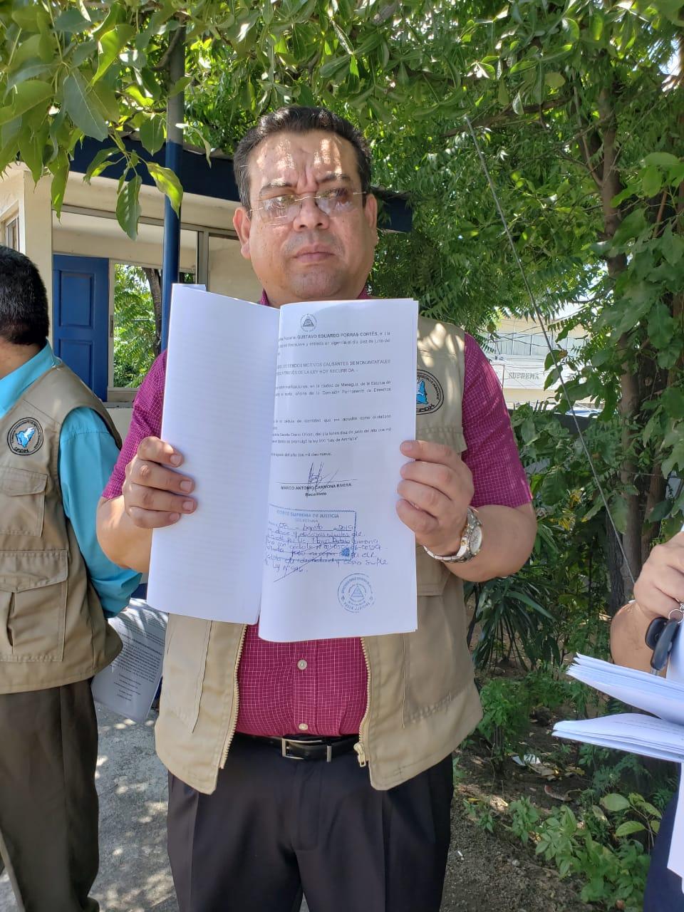 Marcos Carmona, director de la CPDH interpone recurso contra Ley de Amnistía. Foto: Geovanny Shiffman/Artículo 66