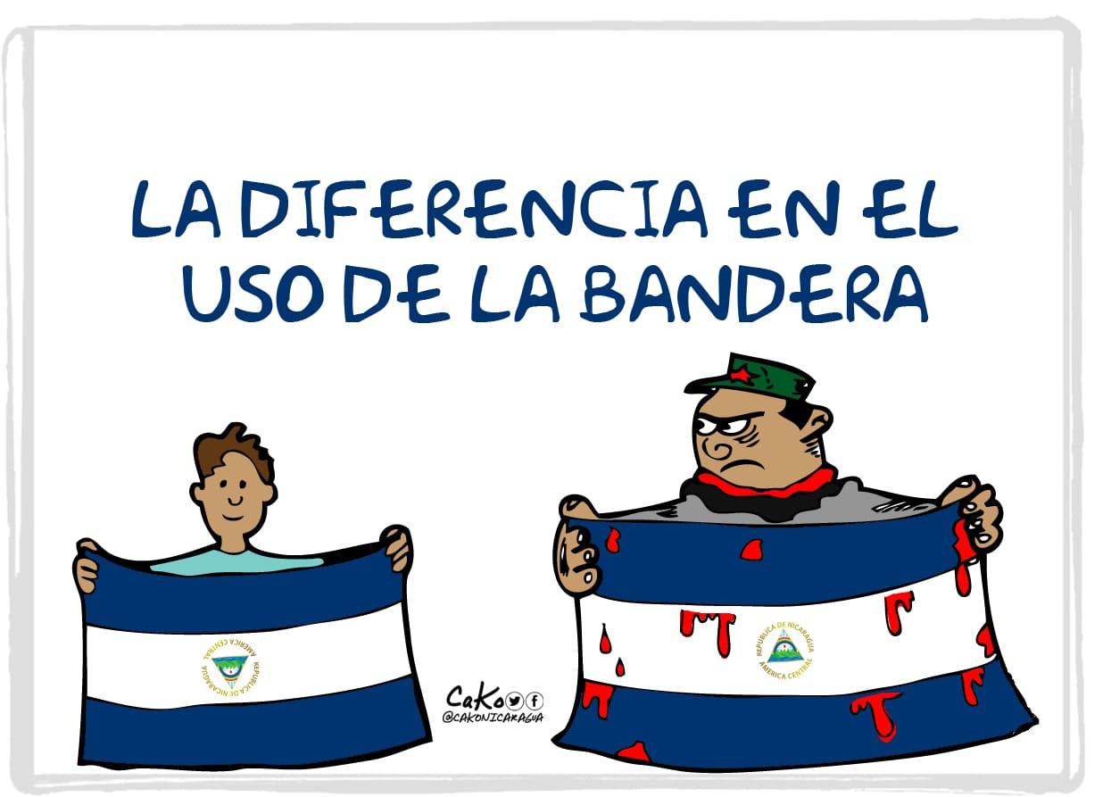 La Caricatura: La bandera de los paramilitares