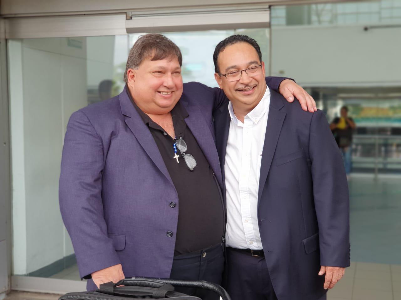 Tras nueve meses de exilio Jaime Arellano y Aníbal Toruño regresaron a Nicaragua