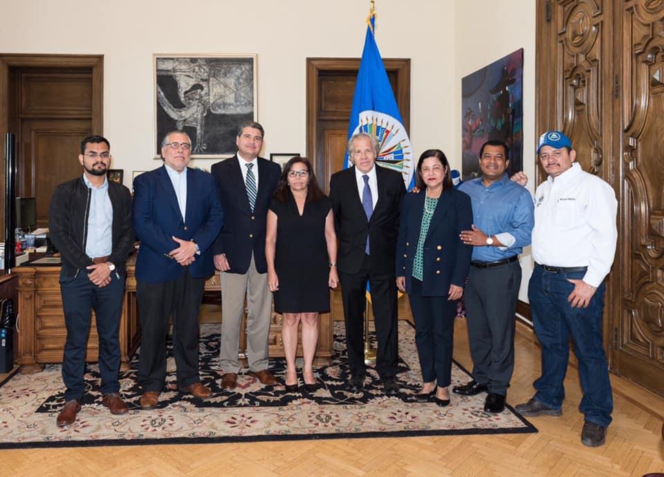 UNAB y Alianza Cívica se reúnen con Luis Almagro. Foto: Tomada de las redes sociales.