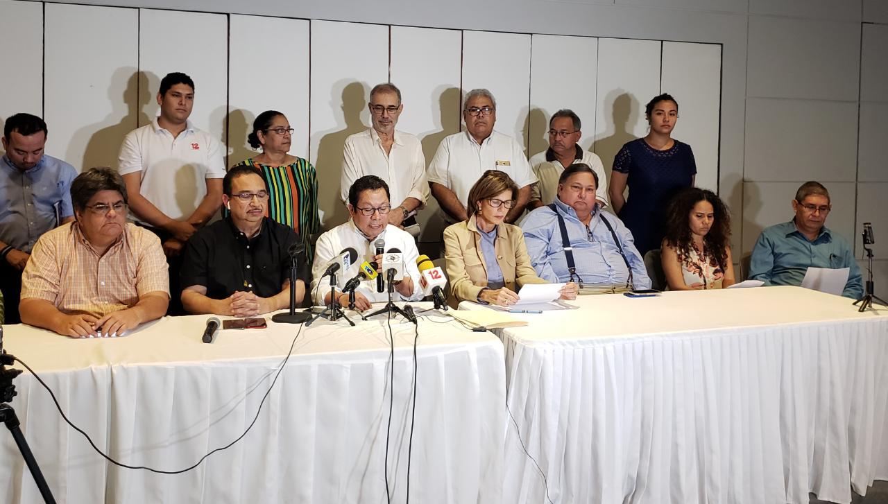 Profesionales de la comunicación exigen respeto a la libertad de expresión en Nicaragua. Foto: Geovanny Shiffman/Artículo 66