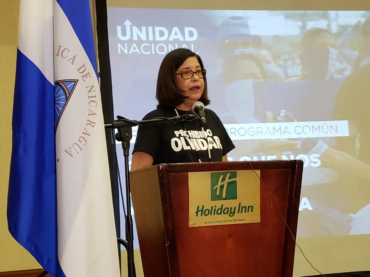 Violeta Granera, activista e integrante del Consejo Político de la Unidad Nacional Azul y Blanco. Foto: Geovanny Shiffman / Artículo 66