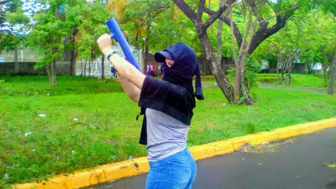 """""""Estoy secuestrada en mi propia casa"""" denuncia exatrincherada de la UNAN Managua. Foto: Cortesía"""