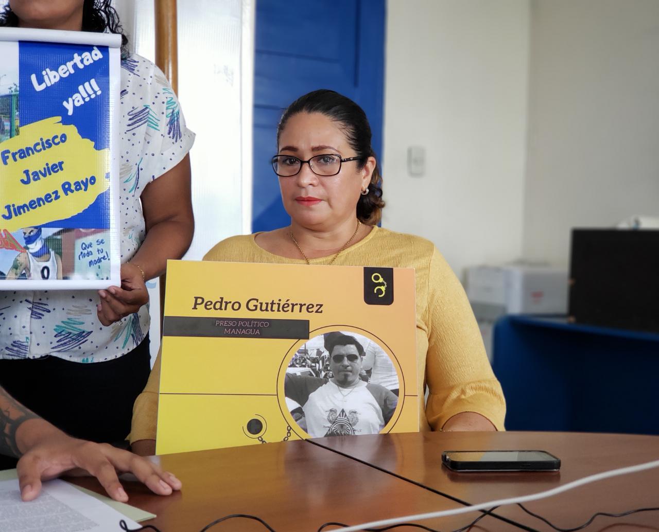 Verónica Ordoñez, esposa de Pedro Gutiérrez denunció ante la CPDH que el prisionero político está siendo sometido a maltrato y que le destruyeron su prótesis. Foto: G. Shiffman / Artículo 66