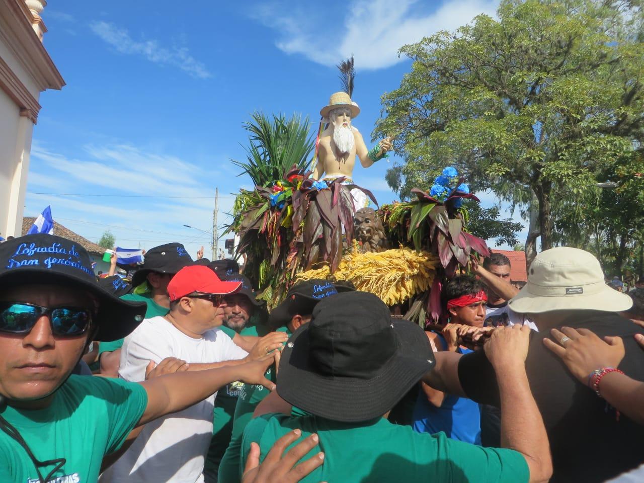 Imagen de San Jerónimo no será expuesta en el atrio, para evitar aglomeraciones. Foto: N. Miranda / Artículo 66