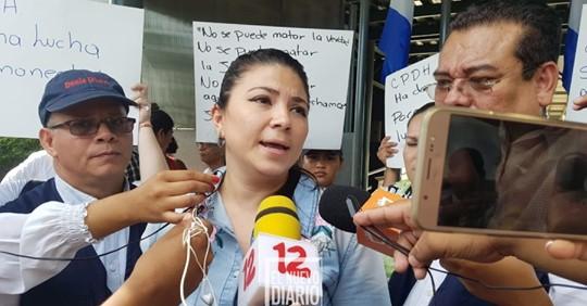 Poder Judicial orteguista suspende por seis meses a la abogada María Oviedo. Foto: END