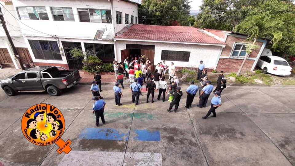 Hostigamiento a feministas de Matagalpa. Foto: Radio Vos