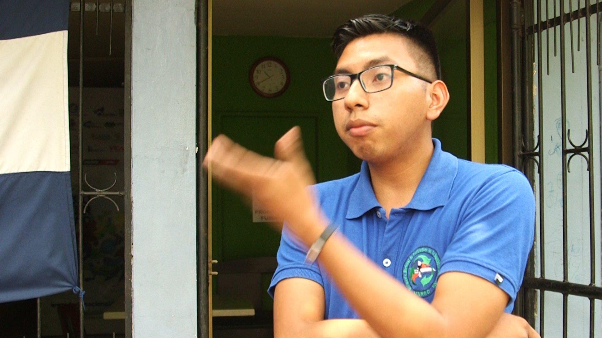 Joel Bermúdez, educador ambiental de Jóvenes Ambientalistas de Nicaragua
