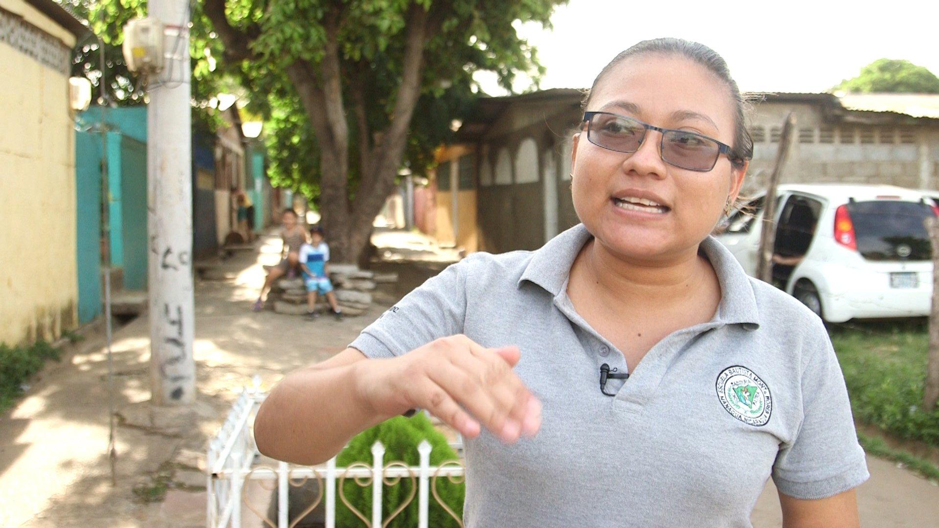 Kathering Gámez, habitante del barrio Isaías Gómez