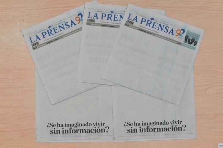 Uno de los SOS que lanzó La Prensa tras el bloqueo aduanero de 56 semanas. Foto: La Prensa
