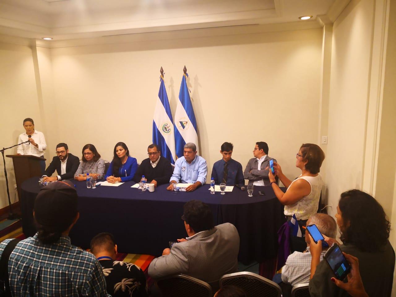 Movimientos sociales de Nicaragua, se reúnen con Comisión de Alto Nivel de la OEA. Foto: Cortesía