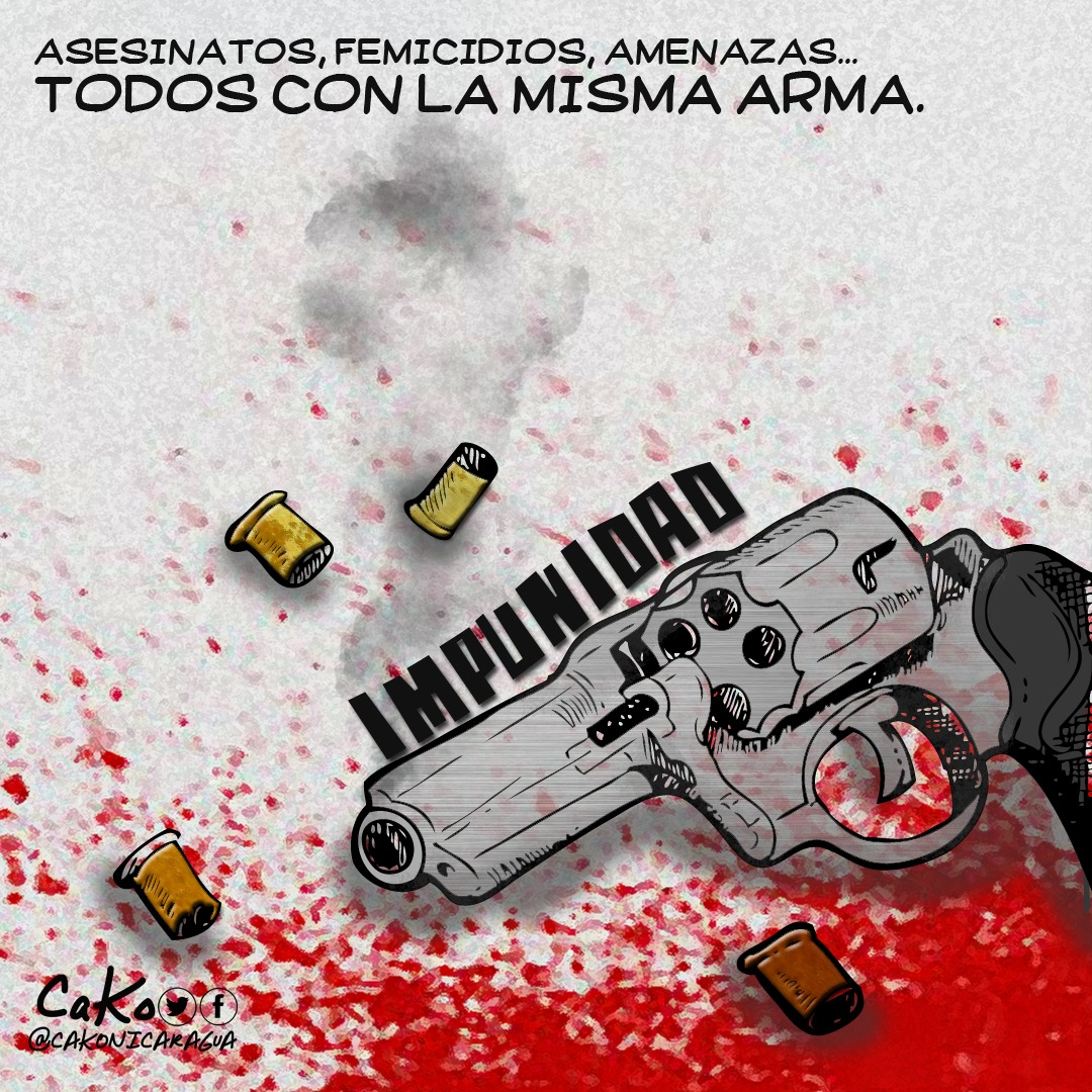 """La Caricatura: """"Con la misma arma"""""""