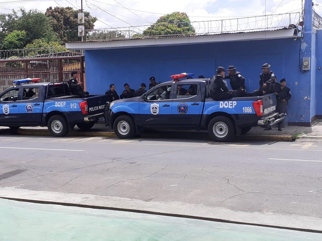 Policía orteguista asedió reunión del Movimiento Campesino en Managua
