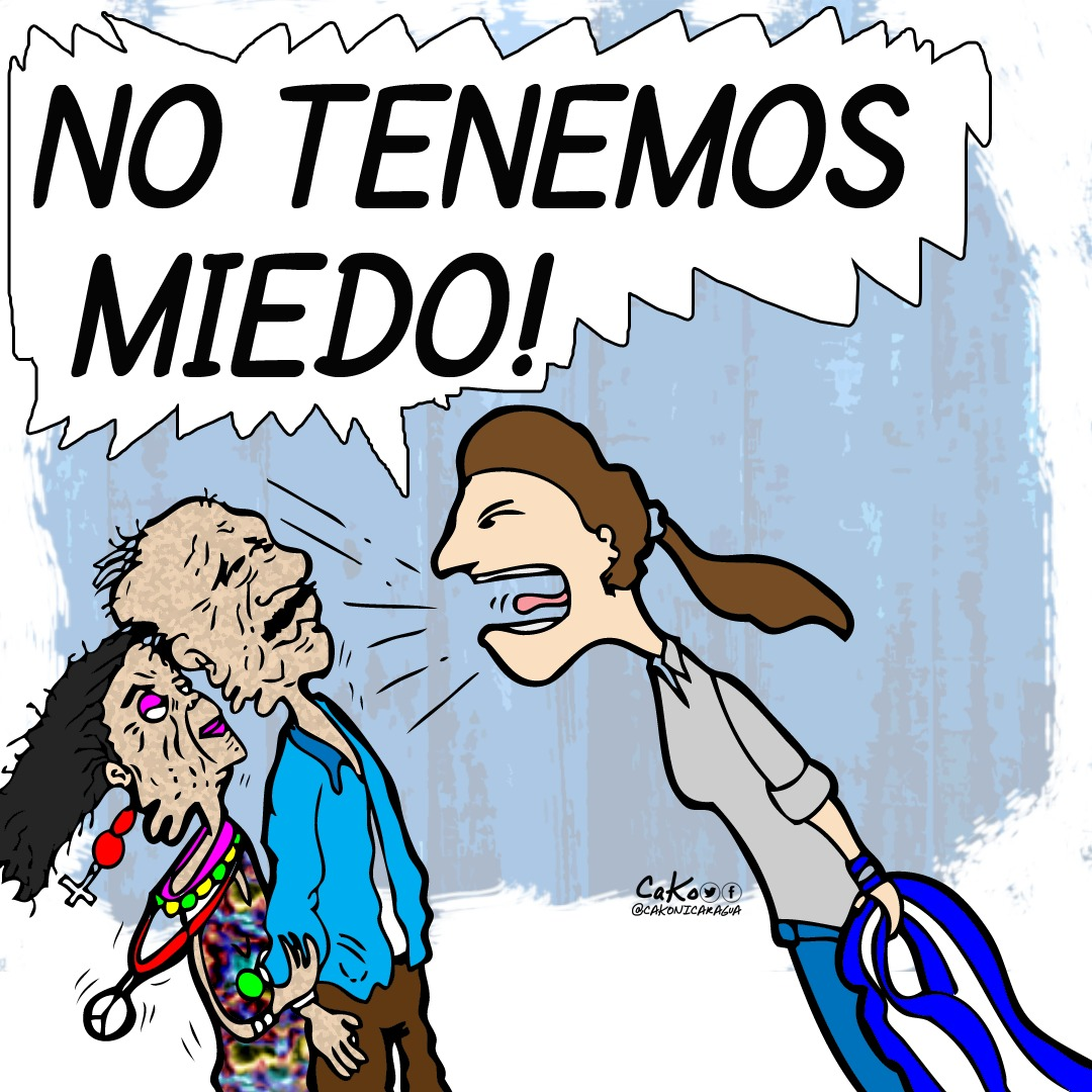 La Caricatura: El grito de Nicaragua a los dictadores