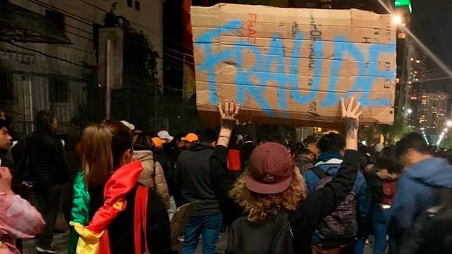 Organismos internacionales y bolivianos rechazan los resultados electorales a favor de Evo Morales