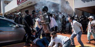 Órgano represor de Ortega ataca a manifestantes autoconvocados. Foto: Tomada de Internet