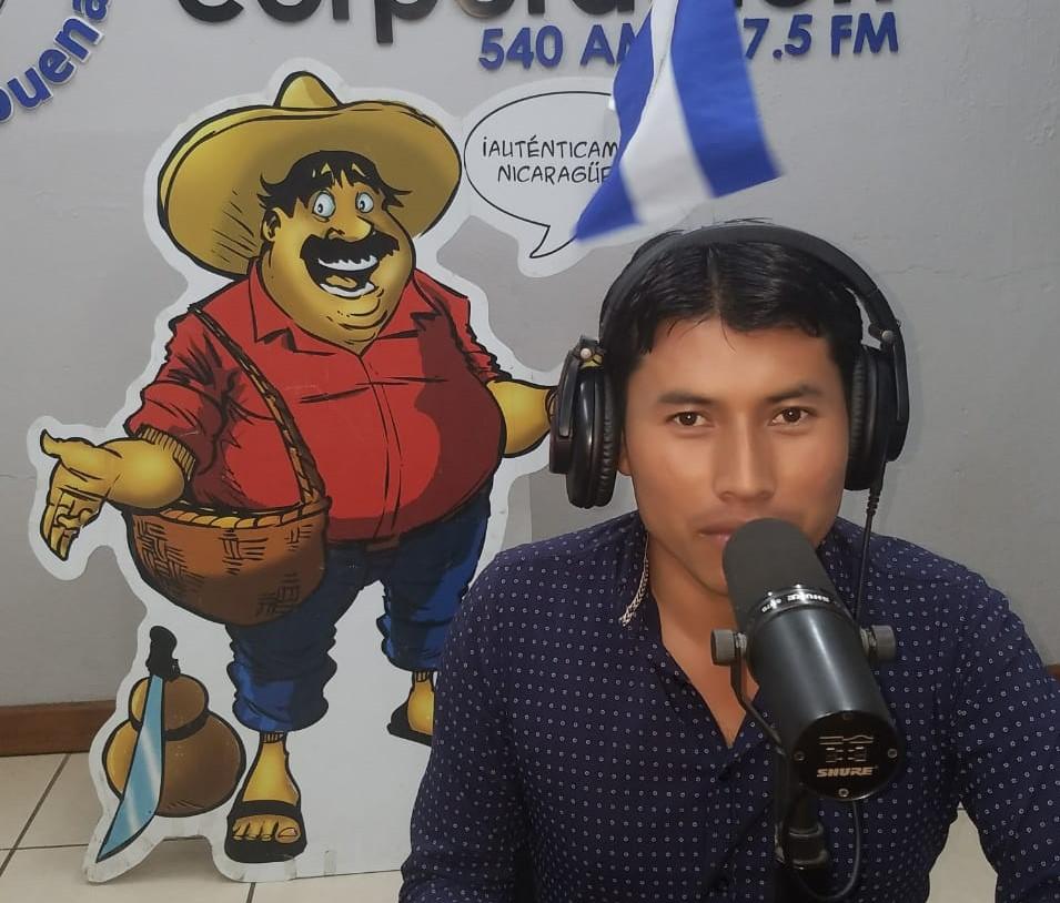 Dennis José García, corresponsal de Radio Corporación. Foto: Radio Corporación.
