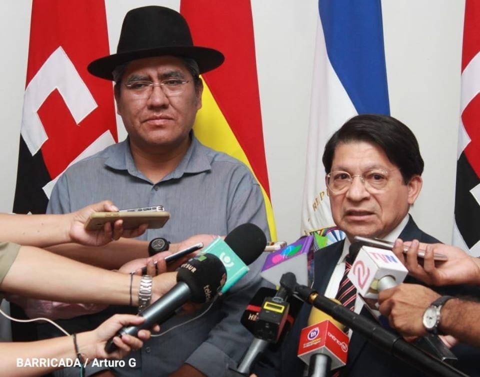 Excanciller de Bolivia Diego Pary Rodríguez llega a Nicaragua. Foto: Cortesía