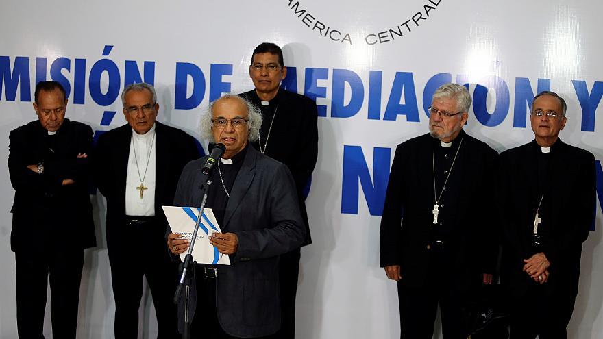 Obispos de Nicaragua condenan profanación a Catedral. Foto: Cortesía