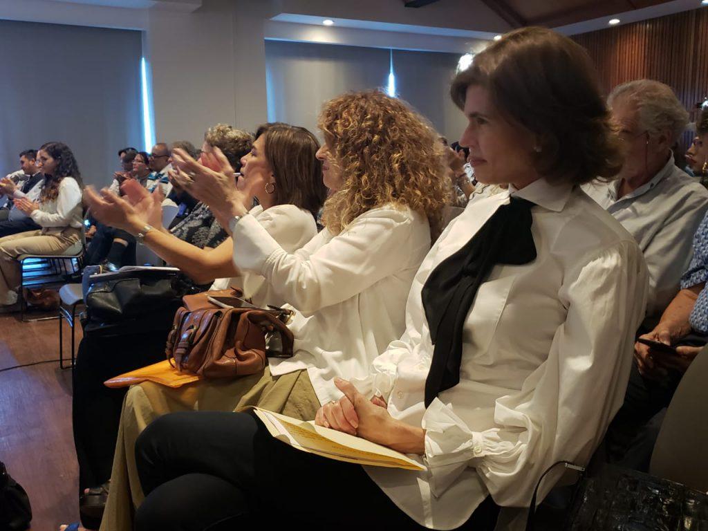 Cristiana Chamorro, Gioconda Belli y otros invitados quienes participaron del conversatorio. Foto: G. Shiffman / Artículo 66