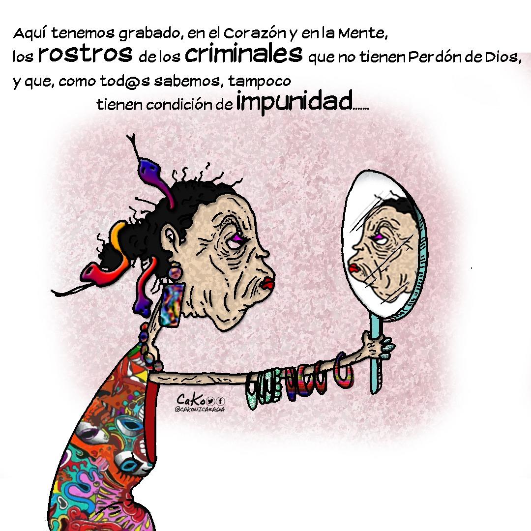 Rosario Murillo advierte que no olvida «los rostros de los criminales que lincharon al pueblo» Foto: Cako