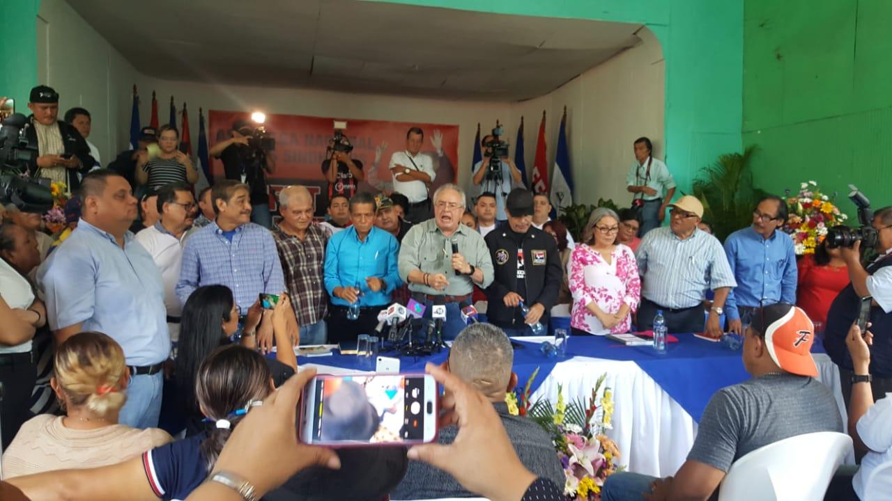Gustavo Porras amenaza a la oposición con más represión y anuncia que Ortega seguirá siendo el eterno candidato . Foto: Artículo 66