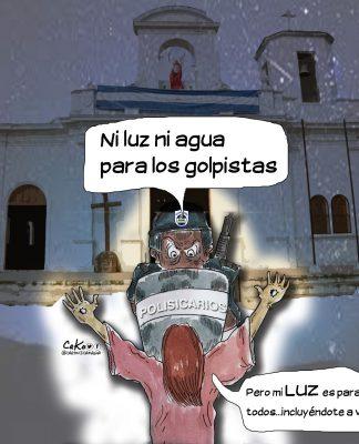 La Caricatura: El demonio quita la luz y el agua
