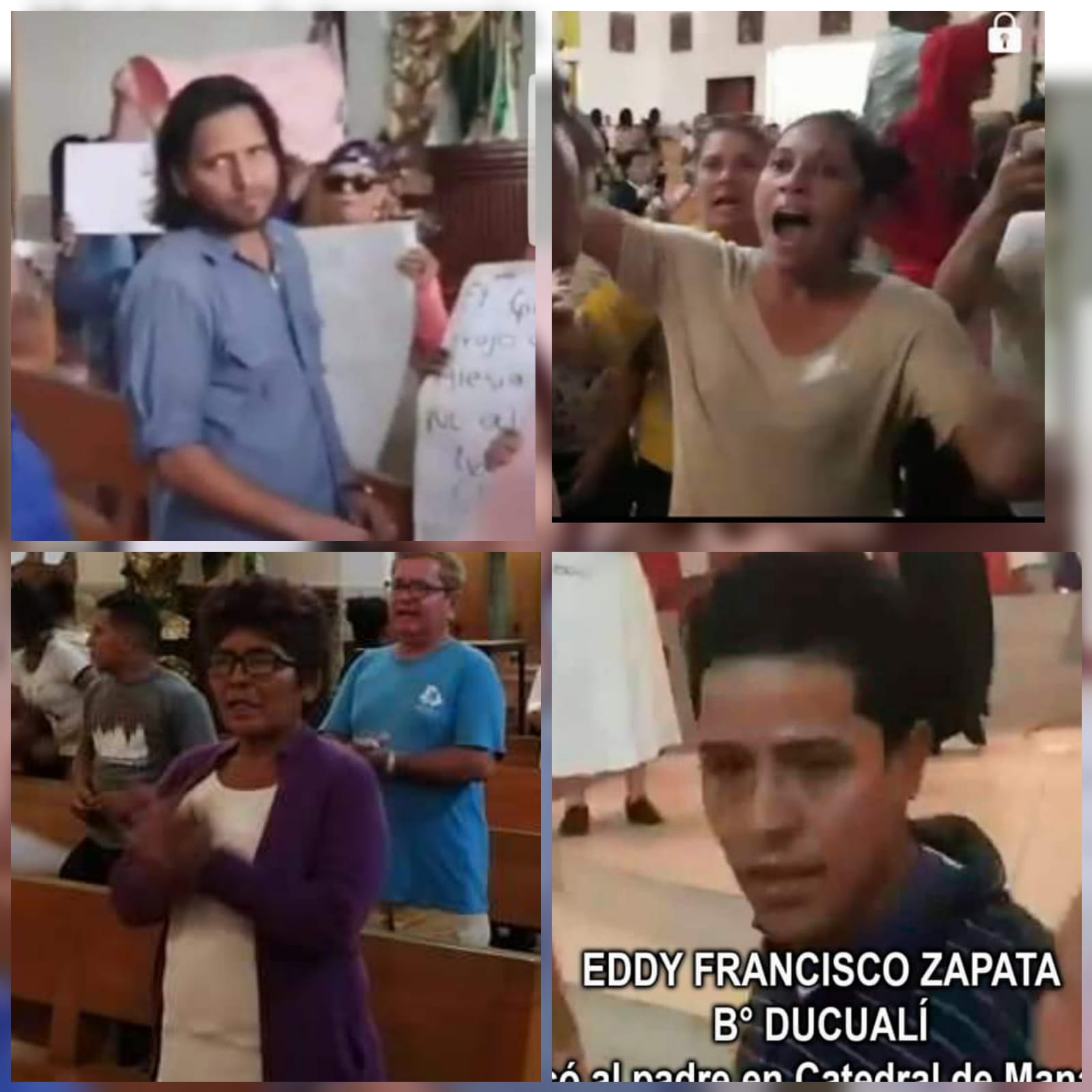 Usuarios de Facebook identifican a turberos que agredieron a sacerdote en Catedral de Managua