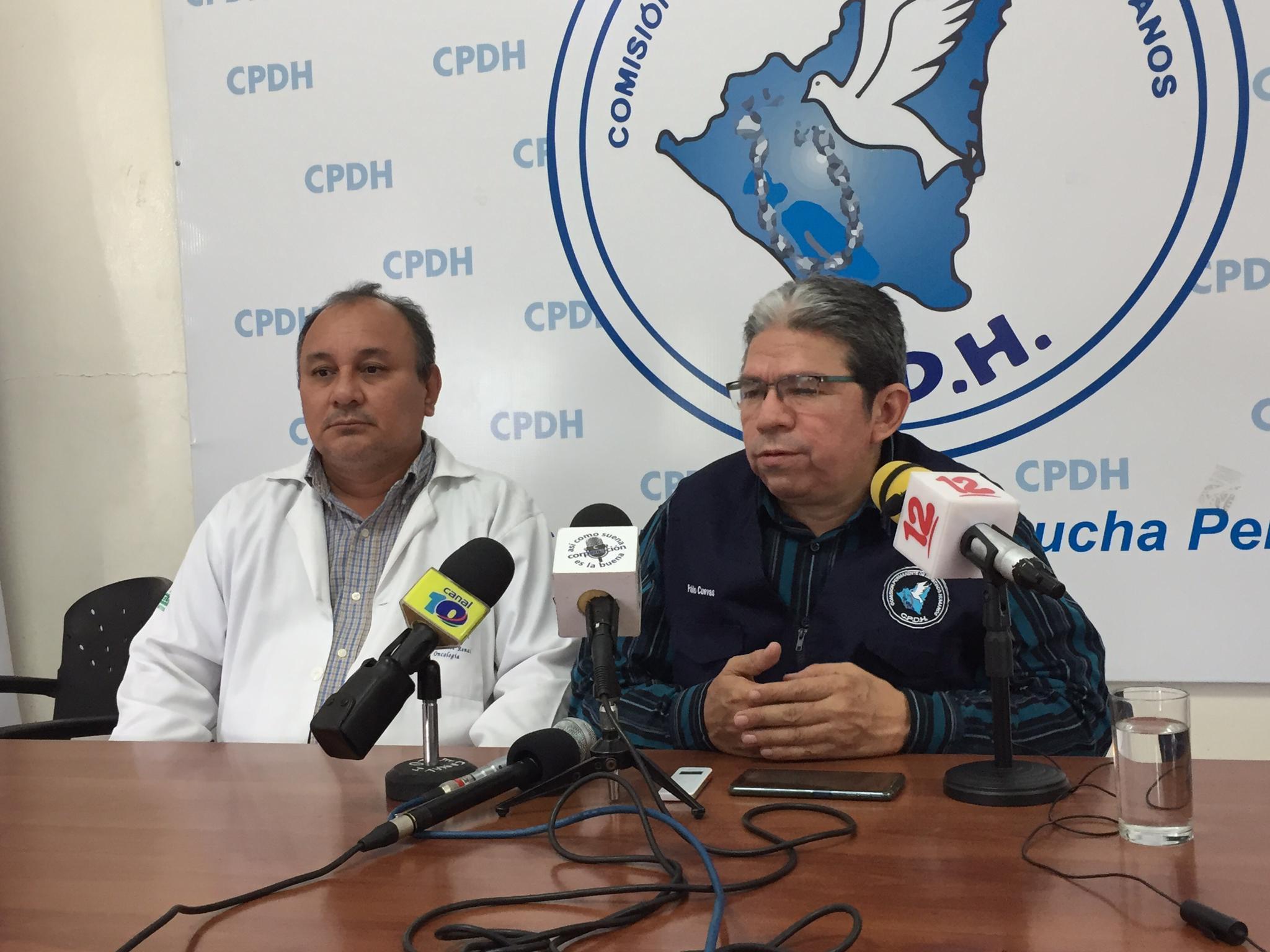 El doctor José Luis Borge interpone denuncia por secuestro y amenazas de parte de paramilitares ante la CPDH Foto: Cortesía