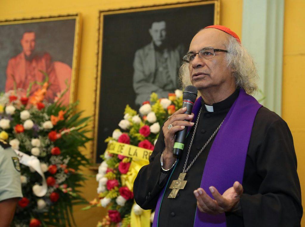 Leopoldo Brenes, arzobispo de Managua. Foto/Cortesía