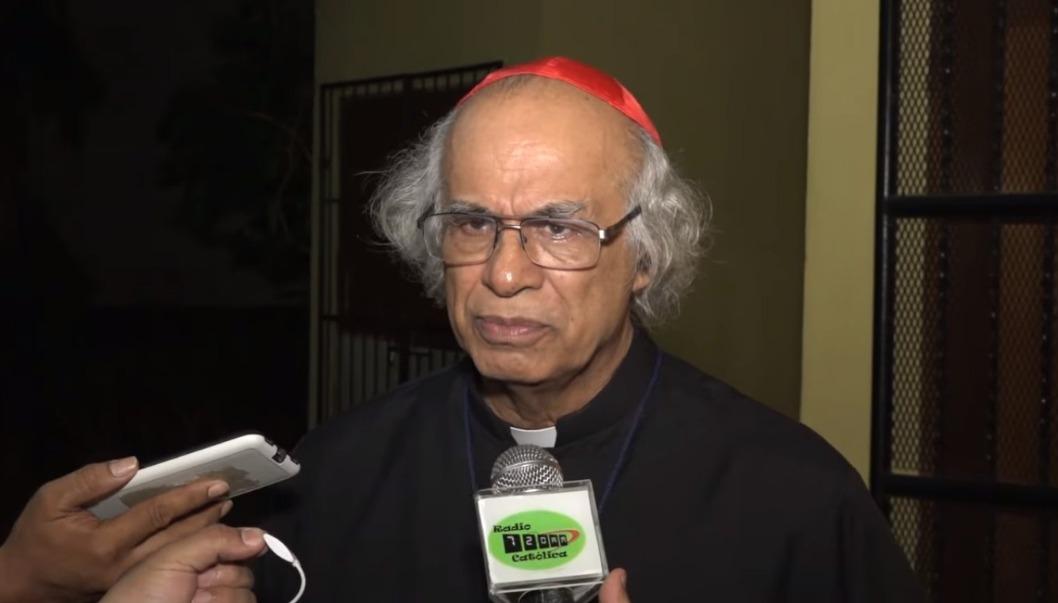 Leopoldo Brenes, al salir de la jornada de oración en Catedral de Managua. Foto/Reproducción: Radiotelevisión Católica de Nicaragua