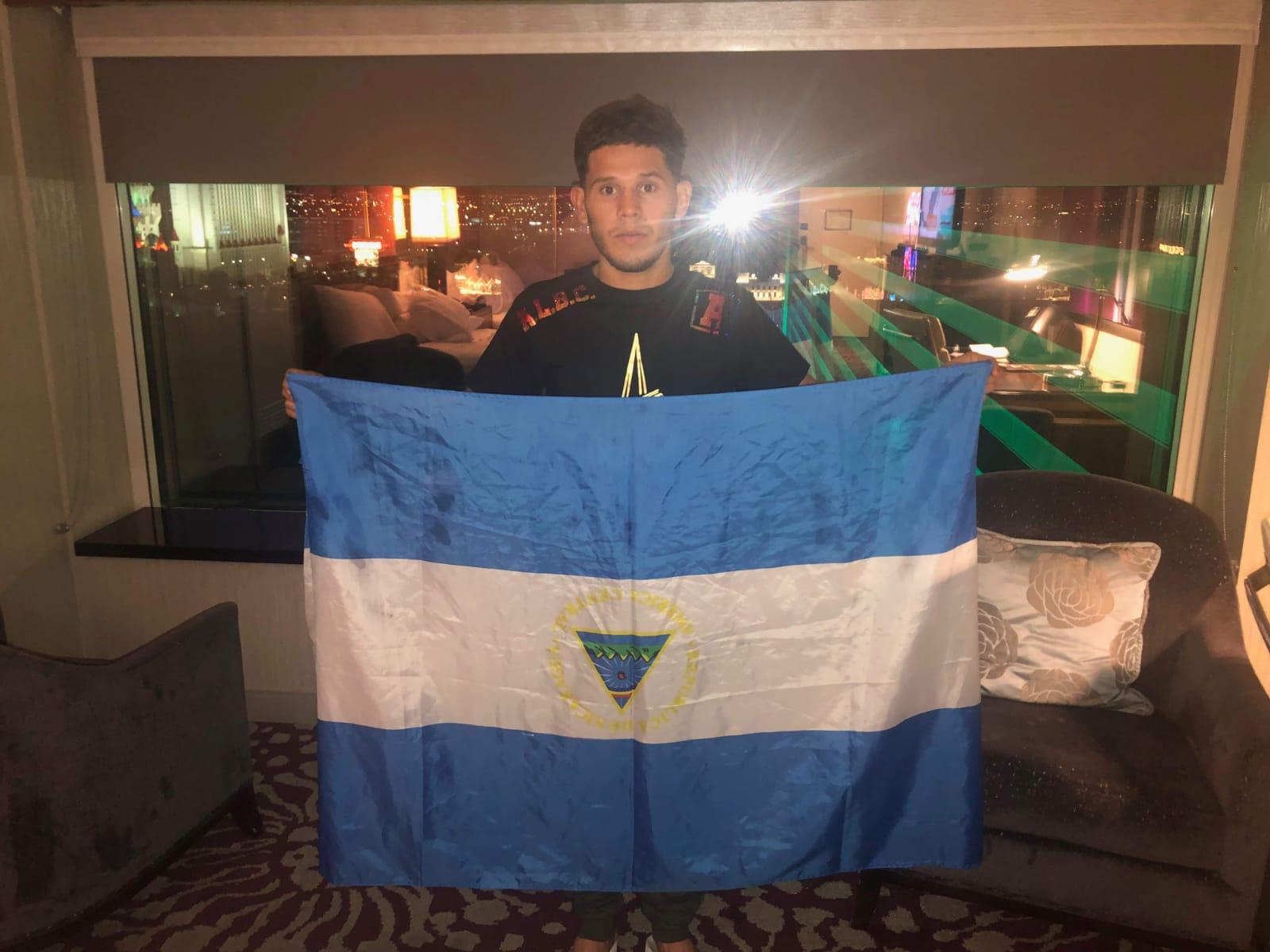 Boxeador nicaragüense exiliado en Estados Unidos peleará este sábado en Las Vegas . Foto: Cortesía