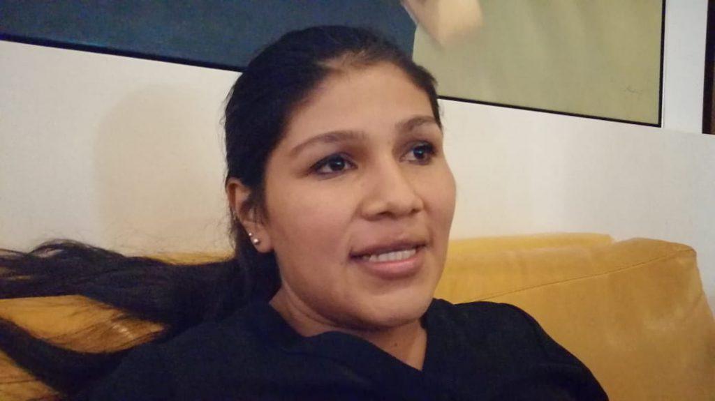 Heysell del Carmen Palacio, hermana del preso político de Masaya Dennis Javier Palacios. Foto: Noel Miranda/Artículo 66