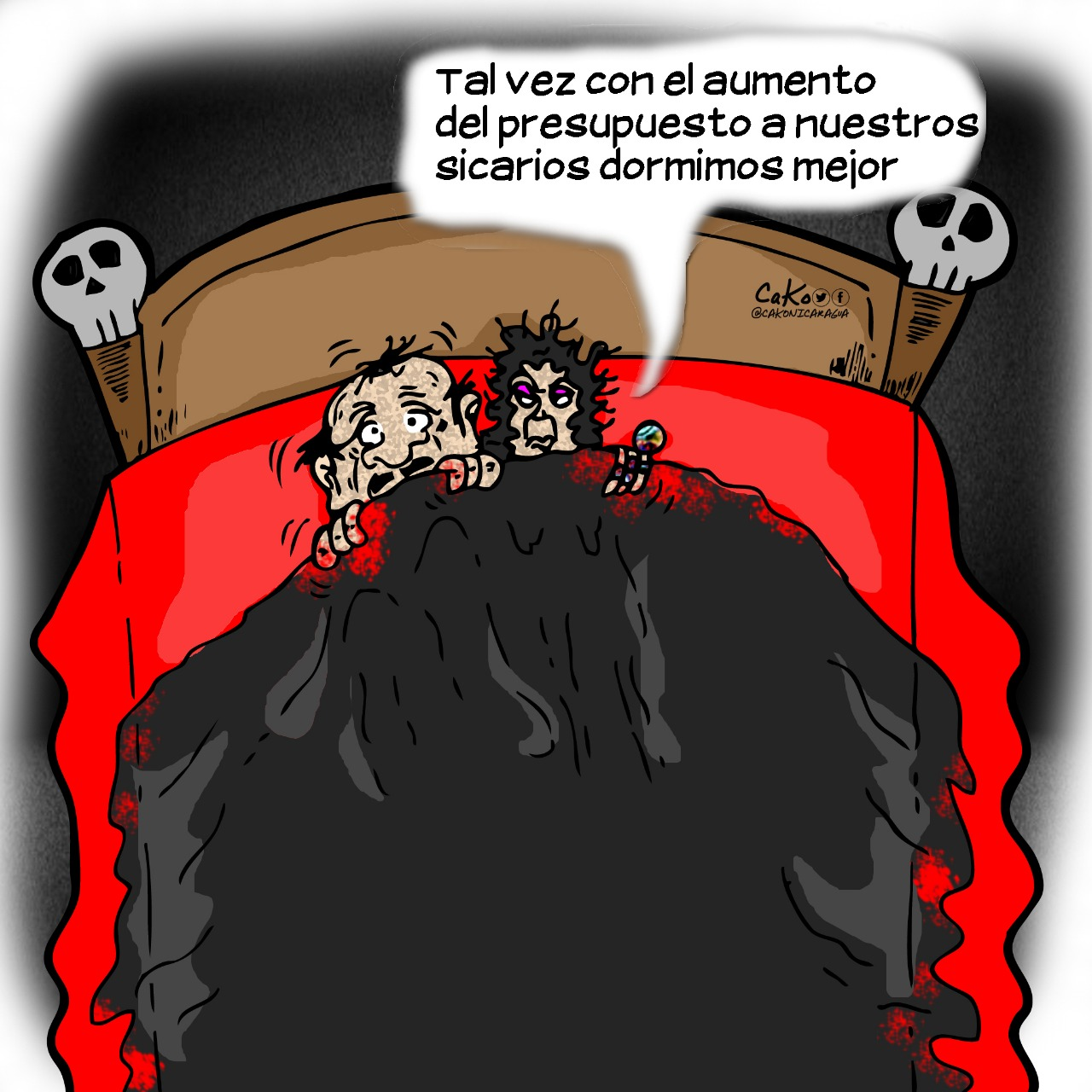 La Caricatura: El miedo no deja dormir a los dictadores