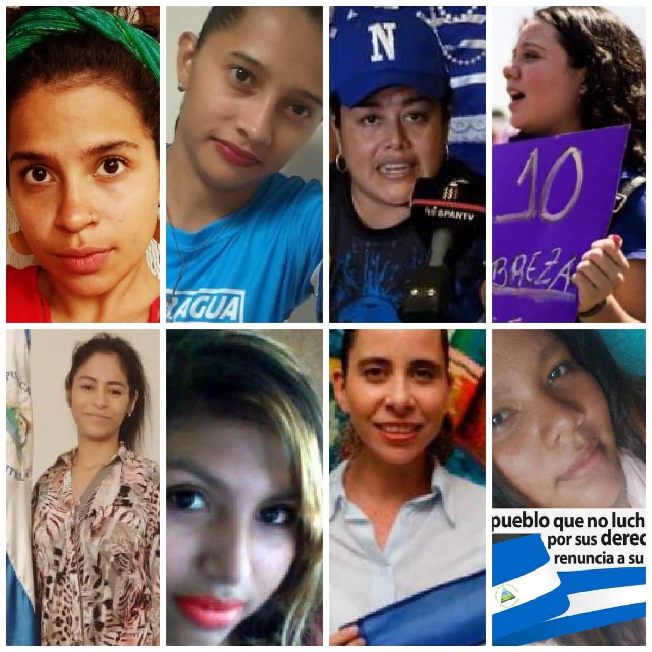 Ocho mujeres están secuestradas por la dictadura de Ortega por ejercer el derecho a protestar