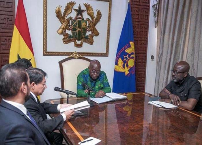 Denis Moncada reunido con el Presidente de la República de Ghana NanaAddoDankwAkufo-Addo. Foto: Cortesía