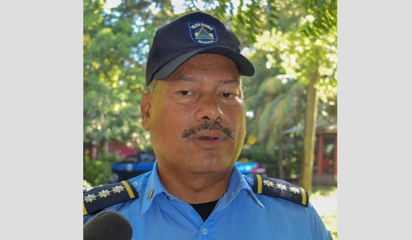 Fidel Domínguez, jefe policial del departamento de León. Foto: Cortesía
