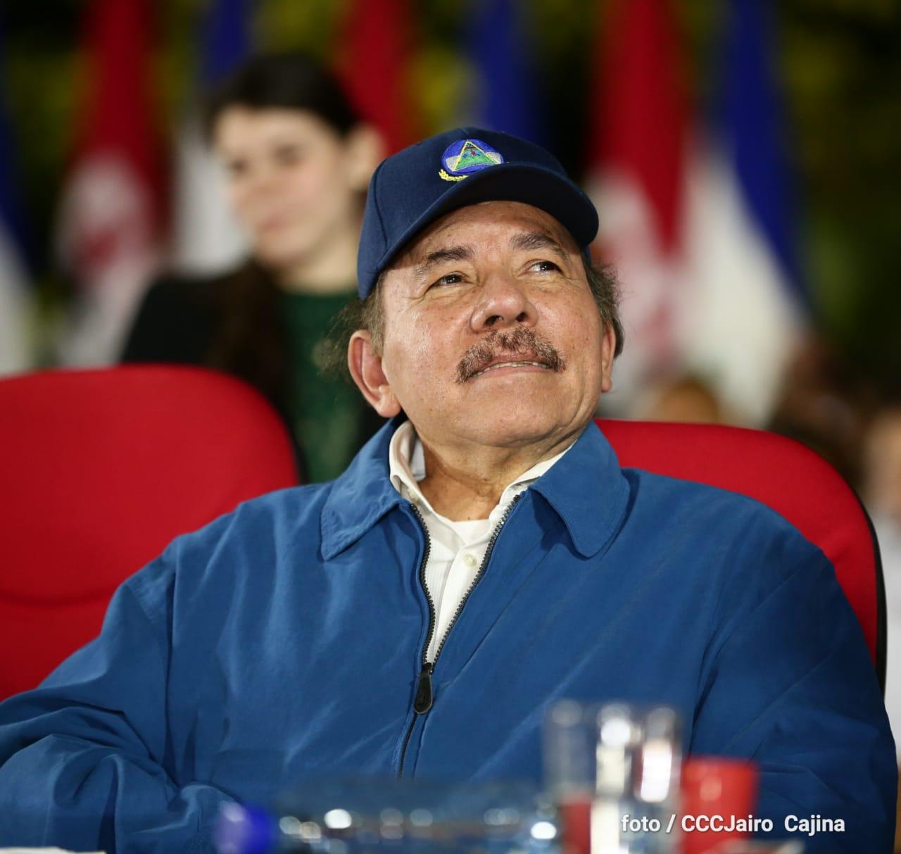 Daniel Ortega durante el acto de aniversario de muerte de Carlos Fonseca encañonó a los empresarios privados, sus exaliados