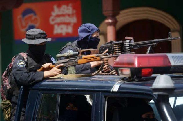 Policía orteguista ocupó municiones españolas para asesinar y reprimir durante las protestas. Foto: Cortesía
