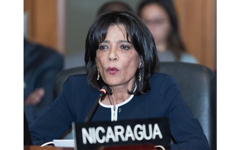 Ruth Tapia, embajadora de la dictadura ante la OEA. Foto: Cortesía