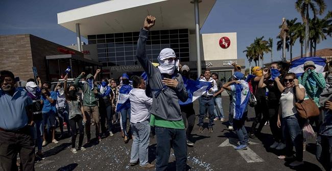 Protesta contra el Gobierno en Managua. Foto: El Informador
