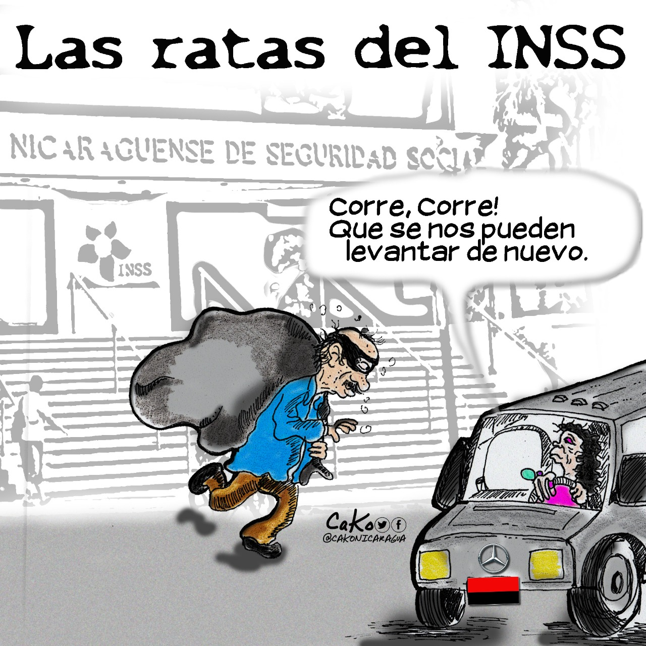 La Caricatura: Atraco al INSS