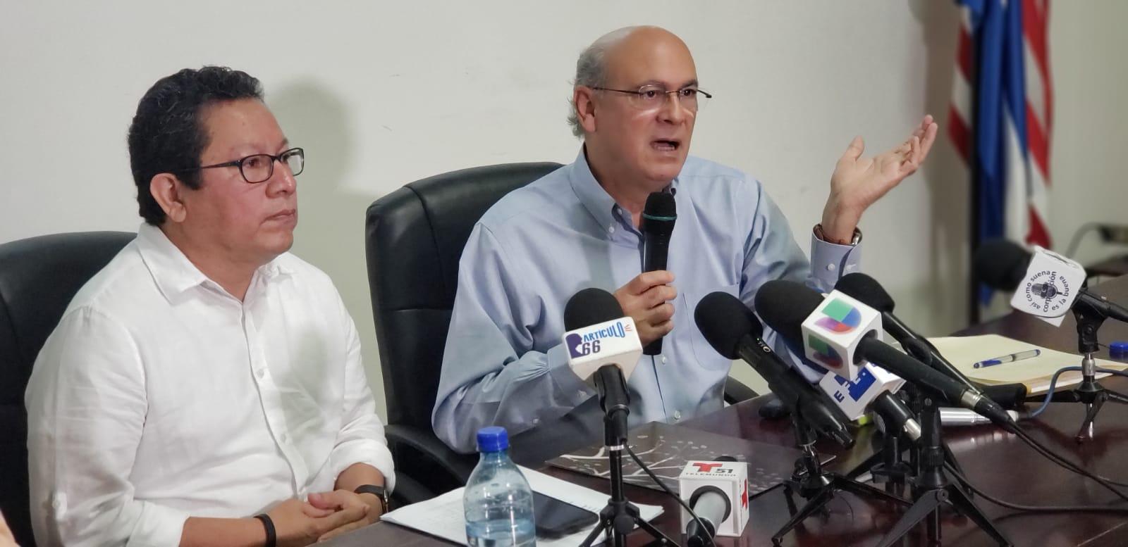 Miguel Mora y Carlos Fernando Chamorro, directores de 100% Noticias y Confidencial. Foto: G. Shiffman/Artículo 66